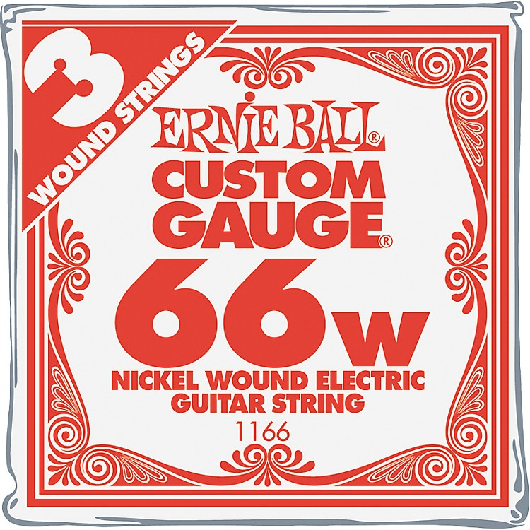 Ernie BallNickel Wound Single Guitar Strings 3-Pack.0663-Pack