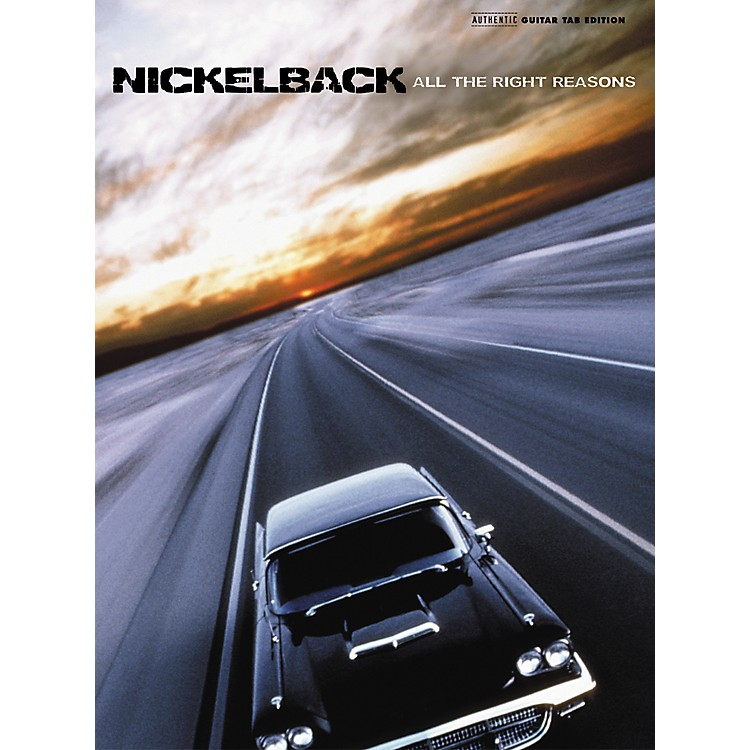Alfred Nickelback All Right Reasons Guitar Tab Songbook