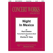 Hal Leonard Night in Mexico Concert Band Level 4 Arranged by Charles Yates