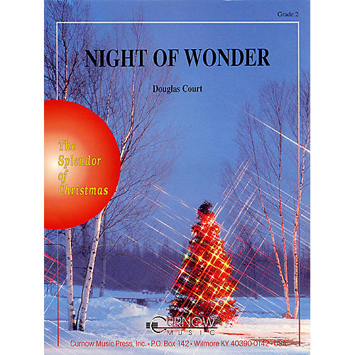 Curnow Music Night of Wonder (Grade 2 - Score Only) Concert Band Arranged by Douglas Court-thumbnail