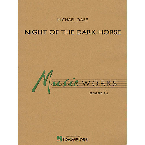 Hal Leonard Night of the Dark Horse Concert Band Level 2.5 Composed by Michael Oare-thumbnail