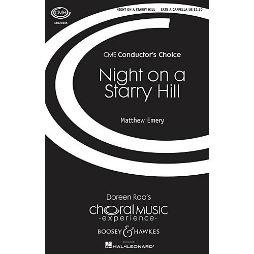 Boosey and Hawkes Night on a Starry Hill (CME Conductor's Choice) SATB a cappella composed by Matthew Emery-thumbnail