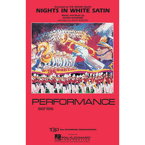 Hal Leonard Nights in White Satin Marching Band Level 4 Arranged by John Wasson-thumbnail