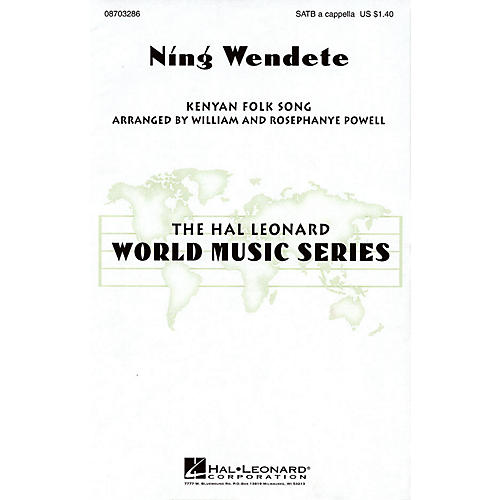 Hal Leonard Ning Wendete SATB DV A Cappella arranged by William Powell-thumbnail