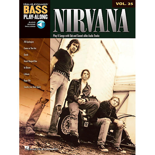 Hal Leonard Nirvana Bass Play-Along Volume 25 (Book/CD)