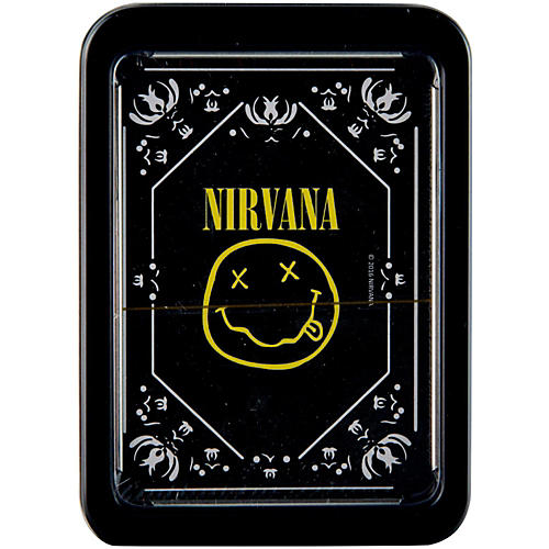 Iconic Concepts Nirvana Smiley Logo Playing Cards in Tin Gift Box-thumbnail