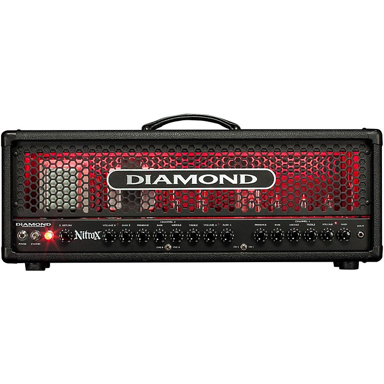 Diamond Amplification Nitrox USA Custom Series 100W Modern Tube Guitar Amp Head Black