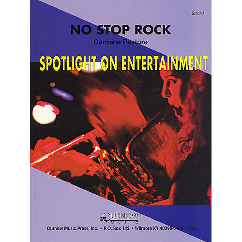 Curnow Music No Stop Rock (Grade 1 - Score Only) Concert Band Level 1 Composed by Carmine Pastore-thumbnail