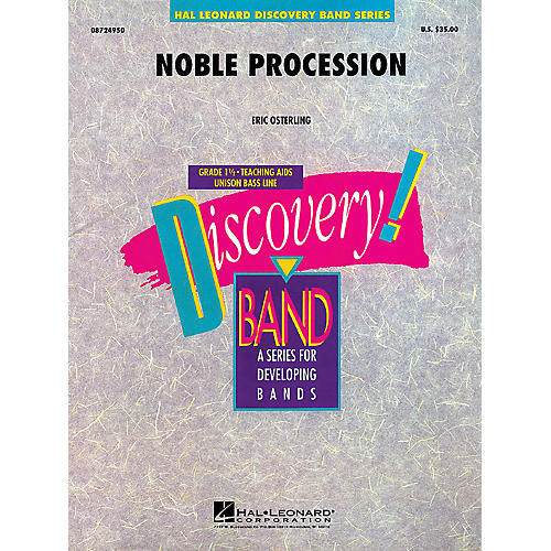 Hal Leonard Noble Procession Concert Band Level 1.5 Composed by Eric Osterling-thumbnail