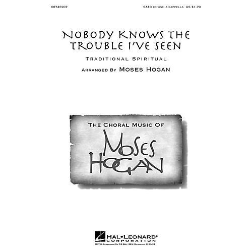 Hal Leonard Nobody Knows the Trouble I've Seen SATB DV A Cappella arranged by Moses Hogan-thumbnail