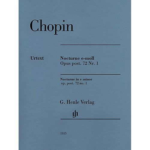 G. Henle Verlag Nocturne in E Minor Op. Post. 72, No. 1 (Edition with Fingering) Henle Music Folios Series Softcover-thumbnail