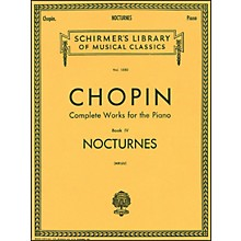 G. Schirmer Nocturnes Book 4 Piano By Chopin