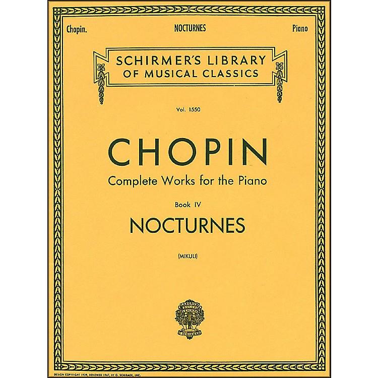 G. SchirmerNocturnes Book 4 Piano By Chopin