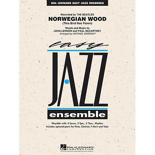 Hal Leonard Norwegian Wood (This Bird Has Flown) Jazz Band Level 2 Arranged by Michael Sweeney-thumbnail
