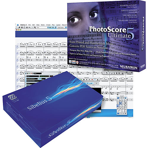 Sibelius Notation Software Academic Edition Version 5 5-seat Lab Pack and Photoscore Ultimate-thumbnail