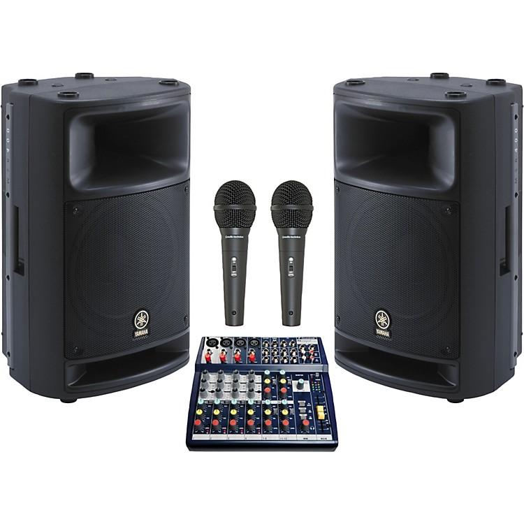 SoundcraftNotepad 124 / MSR400 Mains & Monitors Package