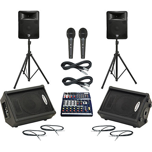 Soundcraft Notepad 124 / PR15D Mains & Monitors Package