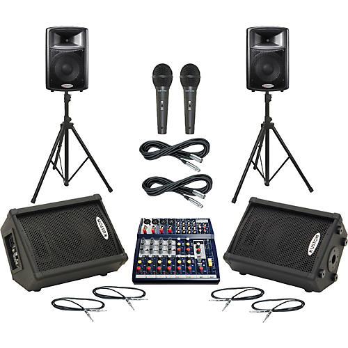 Soundcraft Notepad 124FX / APS12 Mains & Monitors Package