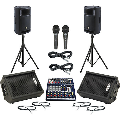 Soundcraft Notepad 124FX / MSR400 Mains & Monitors Package