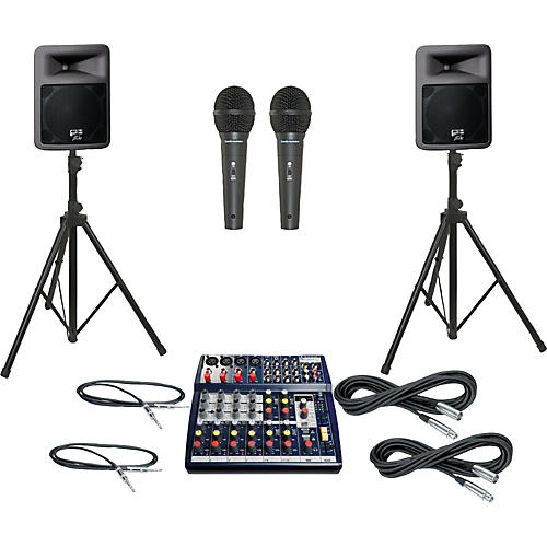 Soundcraft Notepad 124FX / PR12D PA Package
