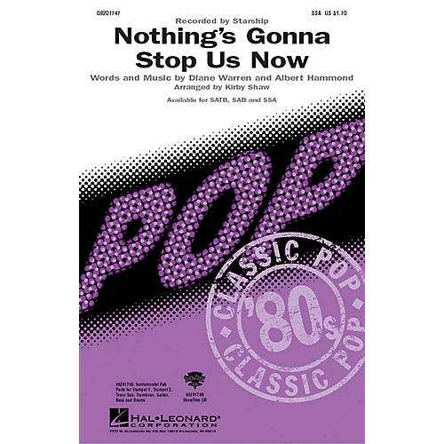 Hal Leonard Nothing's Gonna Stop Us Now SSA by Starship arranged by Kirby Shaw-thumbnail