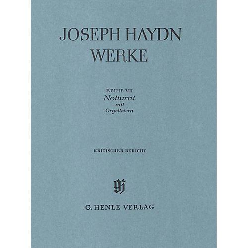 G. Henle Verlag Notturni with Organ Flute-cimbals Henle Edition Series Hardcover
