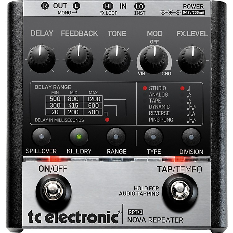 tc electronic nova repeater delay guitar effects pedal musician 39 s friend. Black Bedroom Furniture Sets. Home Design Ideas