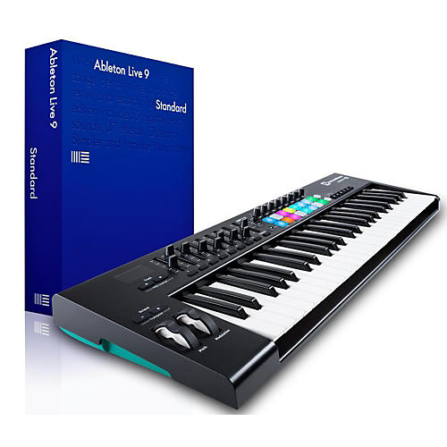 novation novation launchkey 49 midi controller with ableton live 9 5 standard musician 39 s friend. Black Bedroom Furniture Sets. Home Design Ideas