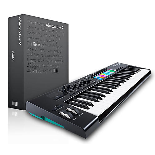 novation novation launchkey 49 midi controller with ableton live 9 5 suite musician 39 s friend. Black Bedroom Furniture Sets. Home Design Ideas
