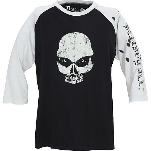 Dragonfly Clothing Company Now Skull Men's Raglan T-Shirt-thumbnail