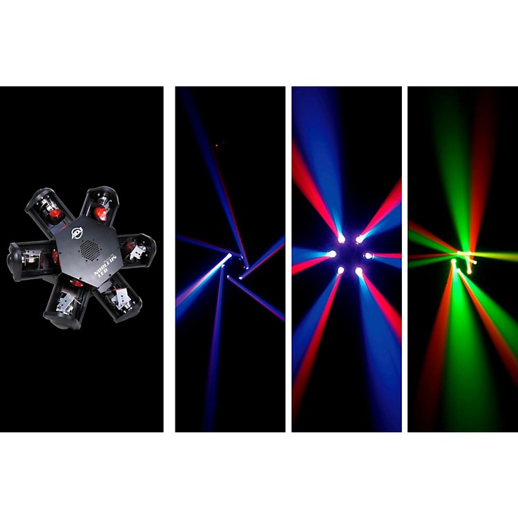 American DJ Nucleus LED - 6-Head Scanning Centerpiece Effect