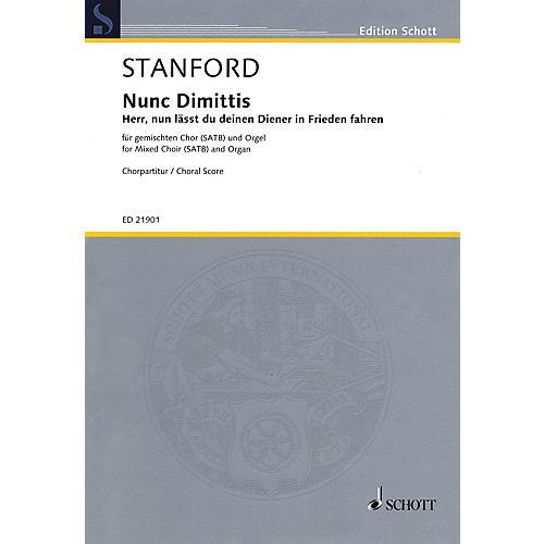 Schott Nunc Dimittis, Op. 115 - Herr, nun lässt du deinen Diener in Frieden fahren SATB by Stanford-thumbnail