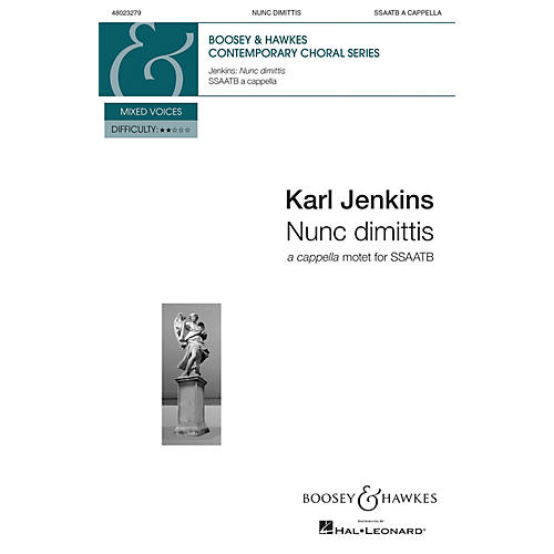 Boosey and Hawkes Nunc Dimittis from The Healer: A Cantata for St. Luke (SSAATB a cappella) composed by Karl Jenkins-thumbnail