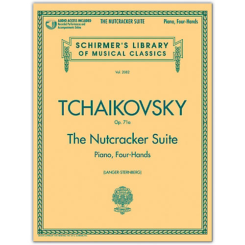 G. Schirmer Nutcracker Suite 1 Piano/ 4 Hands Schirmer Library Book/Online Audio