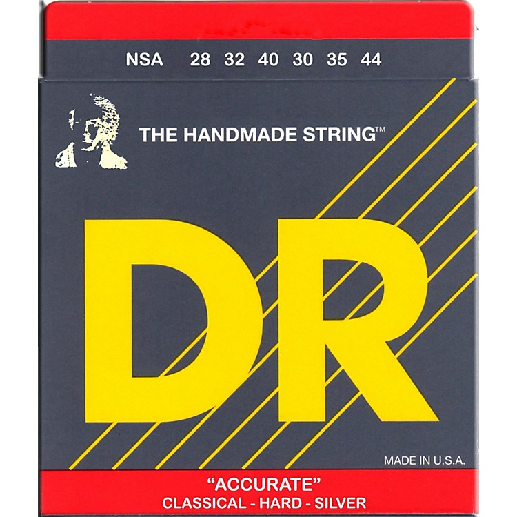 DR Strings Nylon Classic Accurate Hard Tension Acoustic Guitar Strings