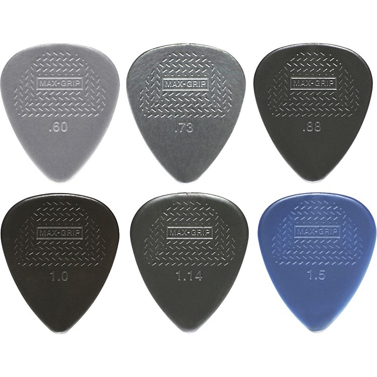 Dunlop Nylon Max Grip Guitar Picks - 12-Pack 0.88 mm