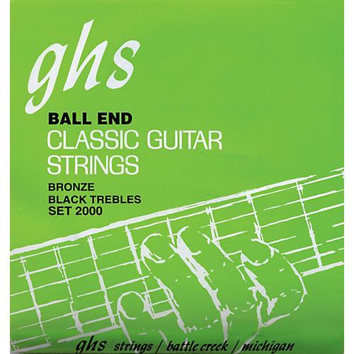GHS Nylon and Phosphor Bronze Classical Guitar Ball End Strings