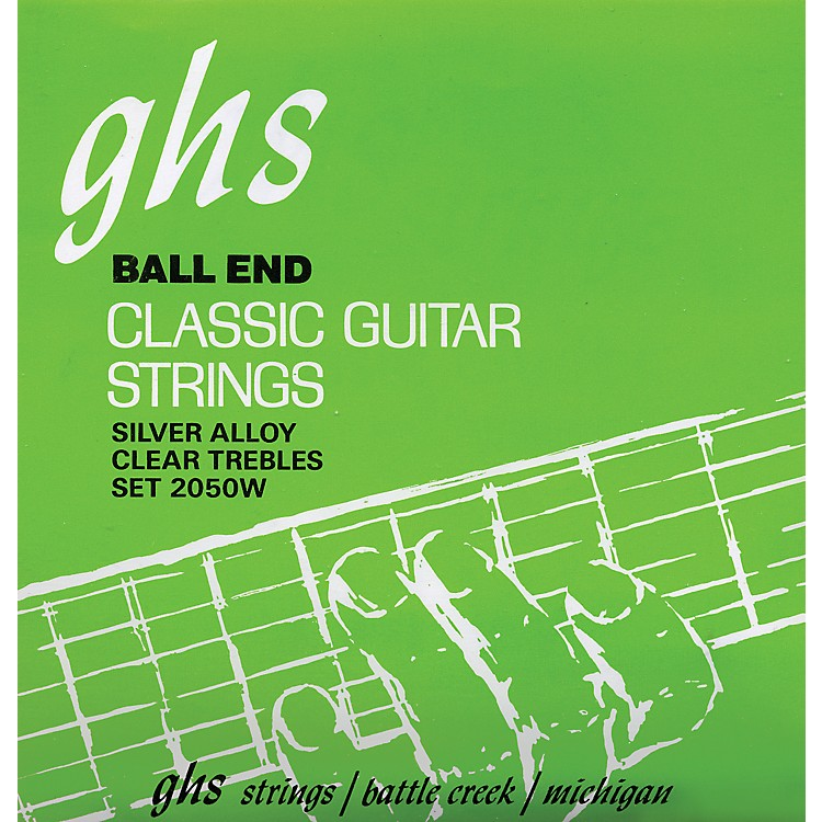 GHS Nylon and Silver Classical Guitar Ball End Strings