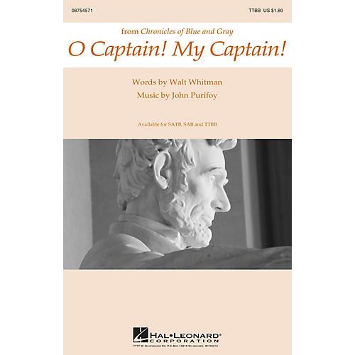 Hal Leonard O Captain! My Captain! TTBB composed by John Purifoy