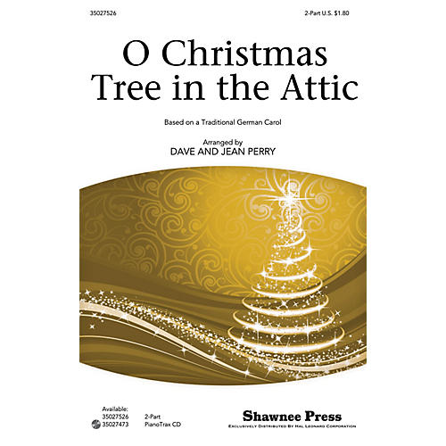 Shawnee Press O Christmas Tree in the Attic 2-Part composed by Dave Perry-thumbnail