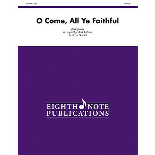 Alfred O Come, All Ye Faithful Brass Quintet Score & Parts