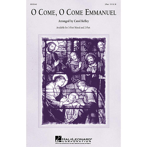 Hal Leonard O Come, O Come Emmanuel 3-Part Mixed arranged by Carol Kelley-thumbnail