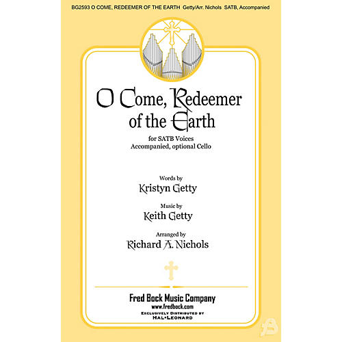 Fred Bock Music O Come, Redeemer of the Earth SATB arranged by Richard A. Nichols-thumbnail