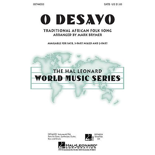 Hal Leonard O Desayo 3-Part Mixed Arranged by Mark Brymer-thumbnail