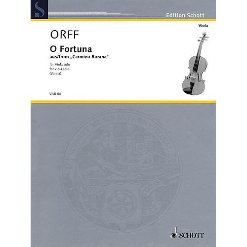Schott O Fortuna from Carmina Burana (Viola Solo) String Solo Series Softcover
