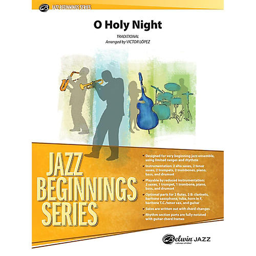 Alfred O Holy Night Jazz Band Grade 1 Set-thumbnail