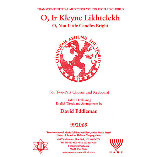 Transcontinental Music O Ir Kleyne Likhtelekh (O, You Little Candles Bright) 2-Part arranged by David Eddleman-thumbnail