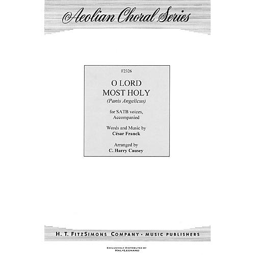 H.T. FitzSimons Company O Lord Most Holy (Panis Angelicus) SATB arranged by C. Harry Causey-thumbnail