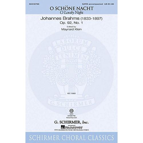 G. Schirmer O Schöne Nacht (O Lovely Night) VoiceTrax CD Composed by Johannes Brahms Edited by Maynard Klein-thumbnail