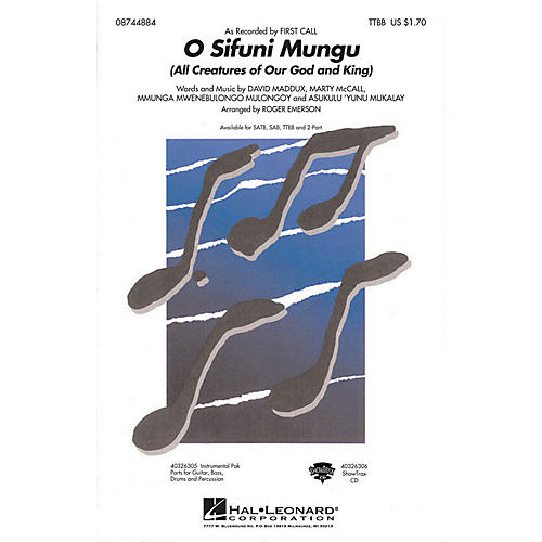 Hal Leonard O Sifuni Mungu (All Creatures of Our God and King) TTBB by First Call arranged by Roger Emerson-thumbnail